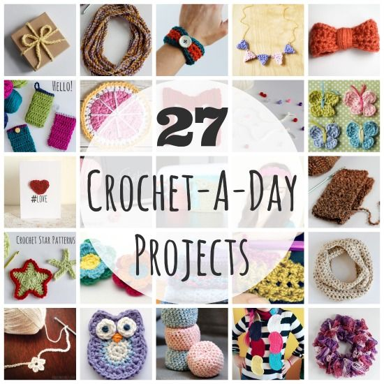 I often like to do small quickly-done crochet projects.  I like big ones too but there's always a danger they will end up in a carrier bag half-done.  Little projects are more like to bring success!
