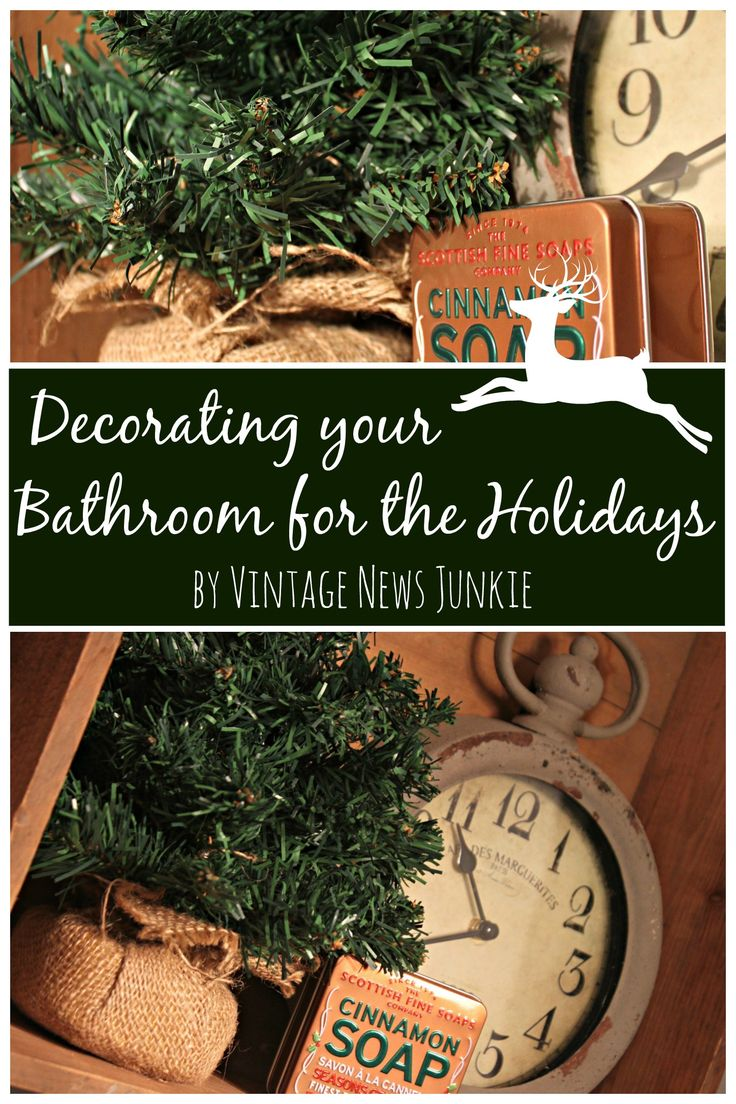 Don T Forget Your Bathroom When You Decorate For Christmas Simple Ideas