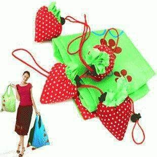 ANC OnLine: Tas belanja lipat bentuk strawberry Go-Green u/hem...