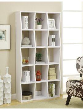 Bookcase Asymmetrical White $199.95 www.affordableportables.net