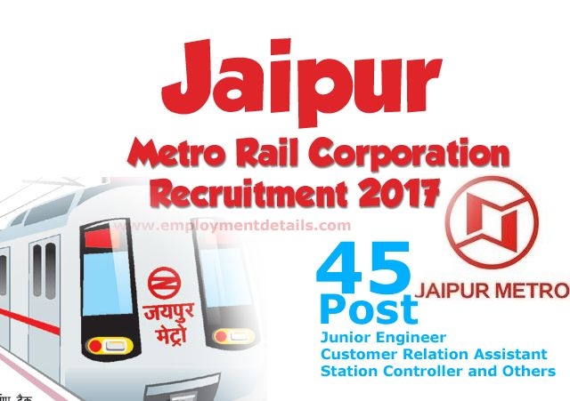 Jaipur Metro Rail Corporation Recruitment 2017 - Read Employment News  http://www.employmentdetails.com/2017/03/sarkari-naukri-2017-for-graduates.html
