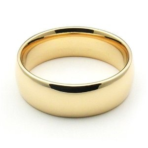 14K Yellow Gold Men's  Women's Wedding Bands 6mm comfort-fit Wedding Ring Finger REVIEW