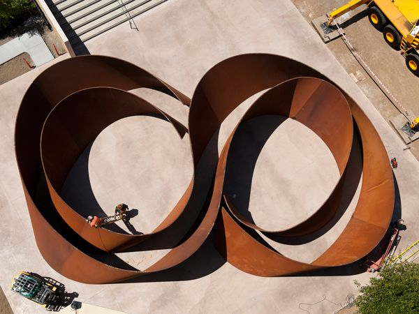 """Richard Serra's """"Sequence"""" at Stanford."""