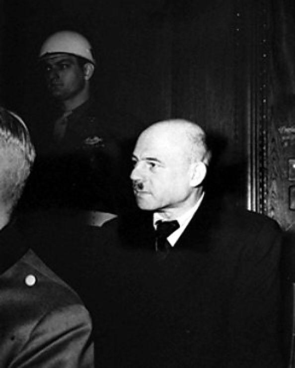 Fritz_Sauckel before his execution as a war criminal. German World War Two