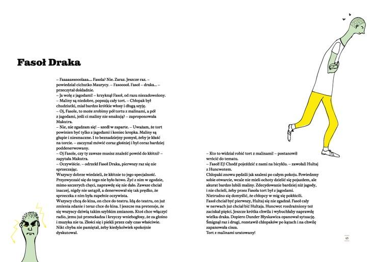 """ilustracja do książki """"Wokabularz"""", Fasoł Draka stroi fochy i się złości"""