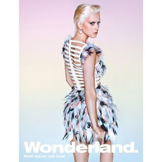 Say hello to Katy Perry with short, bleach blonde hair and very faint eyebrows. | Katy Perry Has Very Short Platinum Blonde Hair For Wonderland Magazine