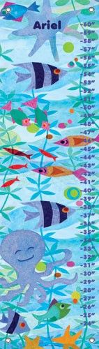 Friendly Fish Party Personalized Growth Chart