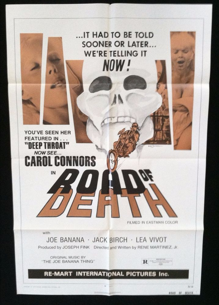 Authentic 1 Sheet Movie Poster Road of Death Carol Connors Biker Gangs 1974