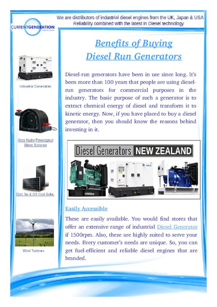 Diesel Generator displays scalability along with high-performance. These are constant as diesel engines are commercial grade machines that endure extreme enduring and display top rated for long time periods of time.