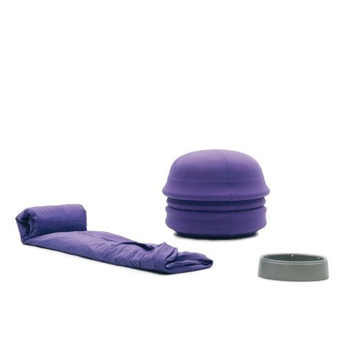 SANTAPOUF pouf with an inflatable single bed inside by Campeggi - design Denis Santachiara