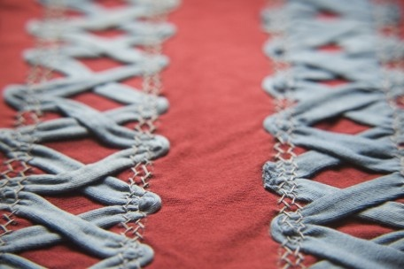 Latticework Passementerie via Alabama Chanin (maybe use idea when trying to cover up something or along seams?)