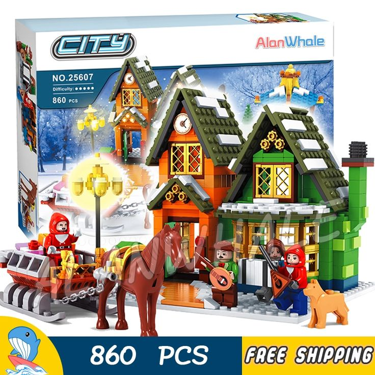 37.99$  Watch now - http://alirrd.shopchina.info/go.php?t=32718421646 - 860pcs Alanwhale Winter Village Post Office City Advent Calendar Christmas Model Building Blocks Bricks Toy Compatible With lego 37.99$ #aliexpresschina