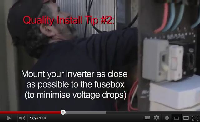 """I got a great email the other day: """"One solar installer has told me that it is best for the inverter to be as close as possible to the panels and NOT to the meter box as your checklist indicates. Is he crazy?"""" Short answer. Yes – he's crazy. Longer answer: As close as possible […]"""
