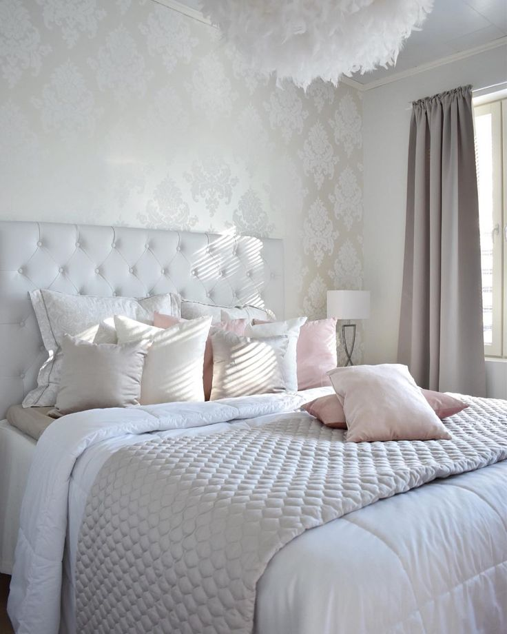 Romanttisen kaunis ja kodikas makuuhuone   Instakodit
