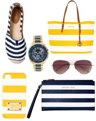 Rock the boat. MICHAEL Michael Kors Meg Striped Espadrille Flat