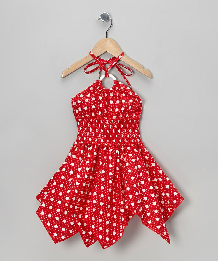 Red Polka Dot Handkerchief Dress - I am in love with this!!