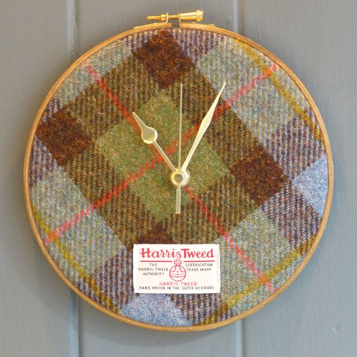 Juniper & Jane's Traditional Harris Tweed Clock