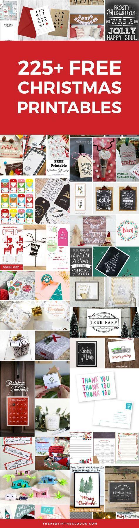 Free Christmas Printables | Kids Christmas Printables | Christmas Tags | Christmas Wall Art