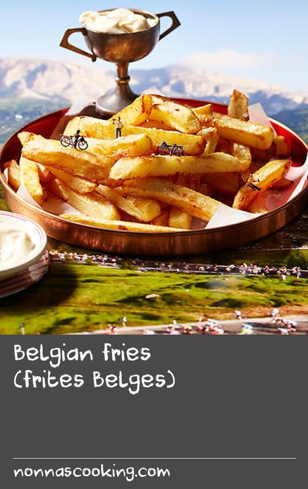 Belgian fries (frites Belges) | Stage 3 – Anvers/Huy: Belgium is to fries what England is to fried fish. Dunked in mayonnaise, these potato bites are always a treat. It's useful to use an electric deep fryer with a thermometer so the temperature is regulated, but if you don't have one a deep saucepan will be fine.