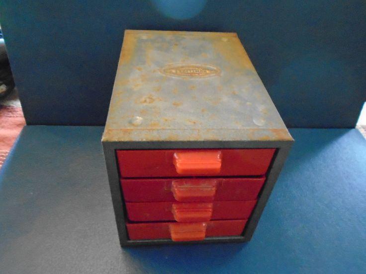 Craftsman Small Parts Bin. Vintage Parts bin.  supplies storage.  Storage and organization. Craftsman .  Sears Craftsman by Montyhallsshowcase on Etsy