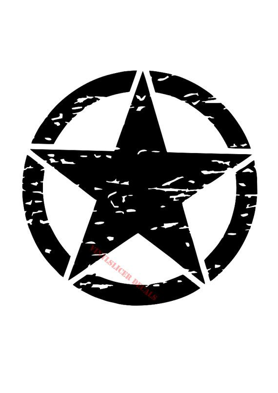 Jeep Wrangler Custom Parts >> Distressed Jeep Army Star decal. military custom decal | Fj cruiser, Star decals, Blue jeep wrangler