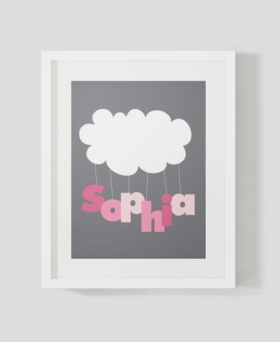 Baby GIRL Birth Poster.  Nursery Wall Art. Printable by AdorableLT, $10.00
