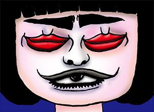 話題の人の似顔絵BLOG: 新ネタはバレンタインだそうで。