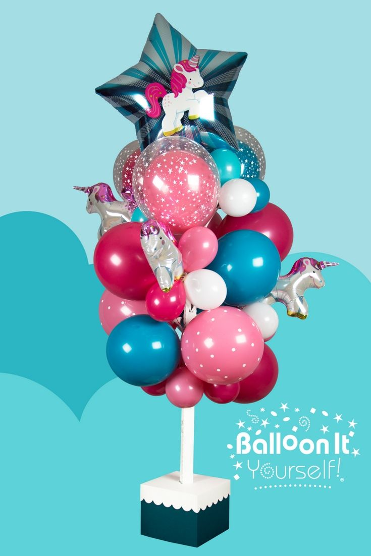 Unicorn balloons magically transform this Balloon It Yourself! An enchanting addition to any special celebration. Ask for Balloon It Yourself! at your local party supply store or visit www.balloonit.com. You can Balloon It Yourself!