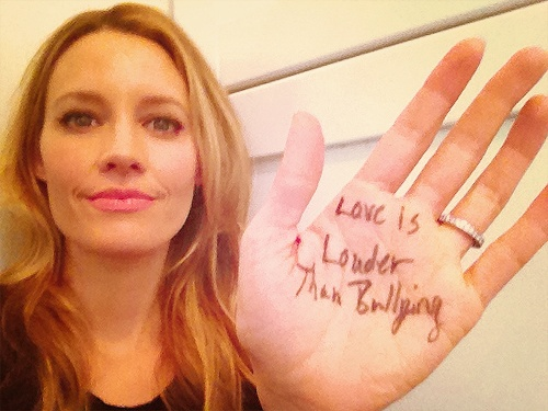 perfect KaDee Strickland speaking perfect words. #quotes #actress #kadeestrickland 'LOVE IS LOUDER THAN BULLYING'