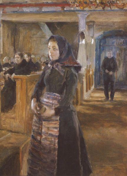 A Girl in Keuruu Old Church. Akseli Valdemar Gallen- Kallela,
