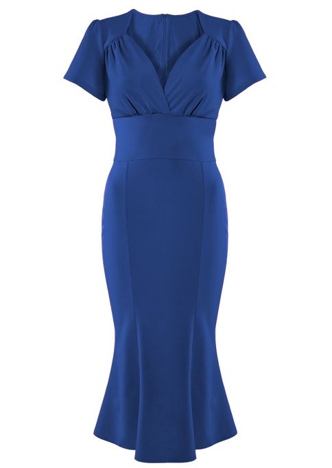 1940s Victory Evening Dress - blue - Fashion 1930s, 1940s & 1950s style - vintage reproduction