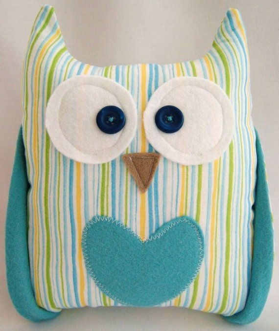 This Owl is named Henry - he is inspiring me to make him some friends! I seriously need to get a sewing machine and have someone teach me to sew...hint hint @Jennifer Williams