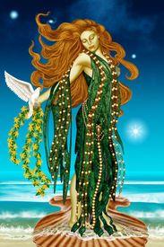 Griekse God - Aphrodite  Ze is de Godin van de liefde en schoonheid, zorgeloze, vrijheid, spontaniteiy, energie en toestemming.