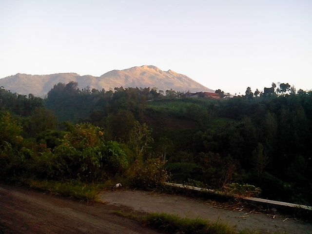 Pano from second place where I had yoga in the morning #Selo #Boyolali