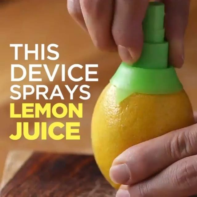 Nice This nifty contraption sprays lemon juice from THE LEMON Check store in