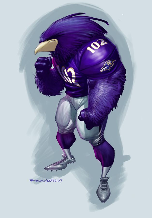 Very nice fan art for the Baltimore Ravens!
