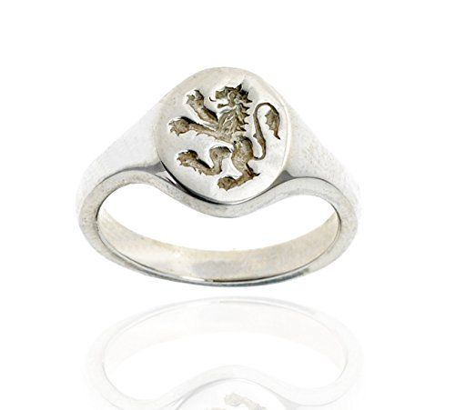 925 Sterling Silver Signet Ring - Scottish Lion Rampant - Size R  Price Β£59.99