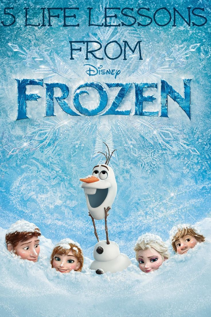 5 life lessons from Disney's Frozen  FHE lesson ideas to get LU involved ;)