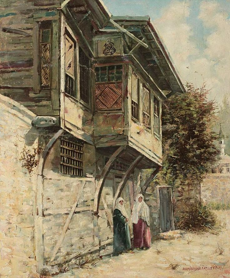 Istanbul Ottoman era - exterior of a middle-class home.