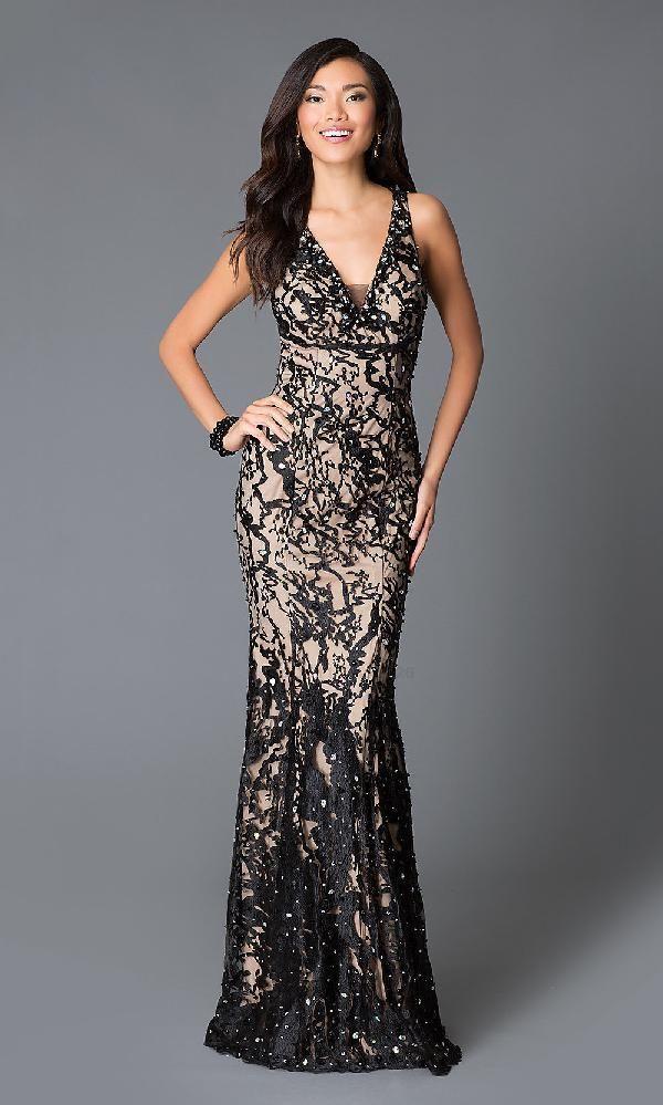 af5cc785fd23 JVN By Jovani JO-JVN-JVN27623 dress, Black/Nude JVN By Jovani ...