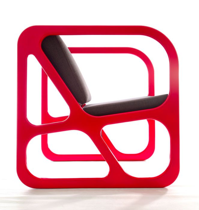 """Red Industrial Chair Modern #home #decor by Obivan - Naif"""