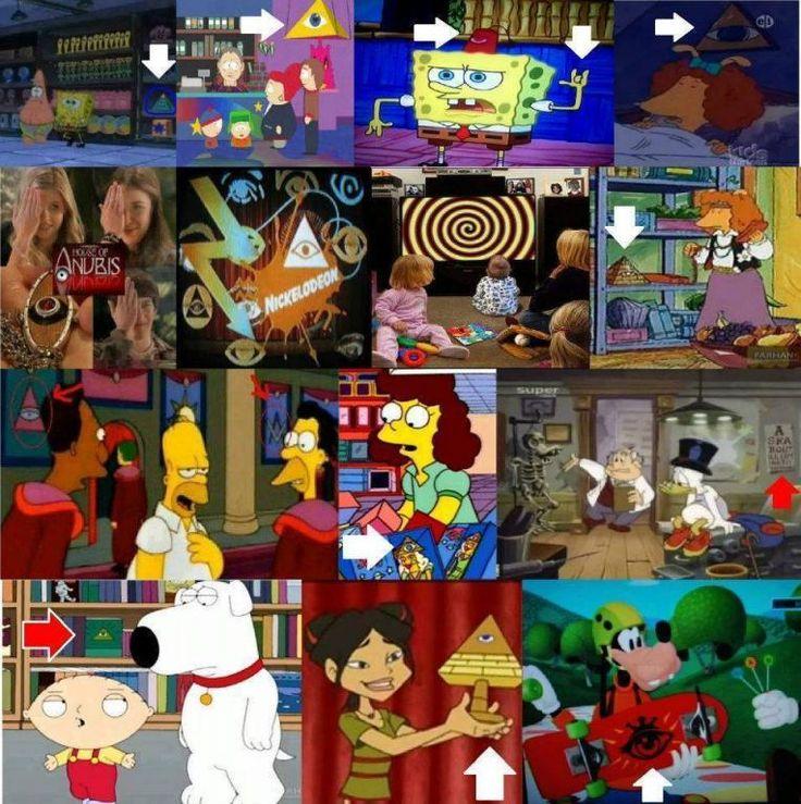illuminati symbol & cartoons