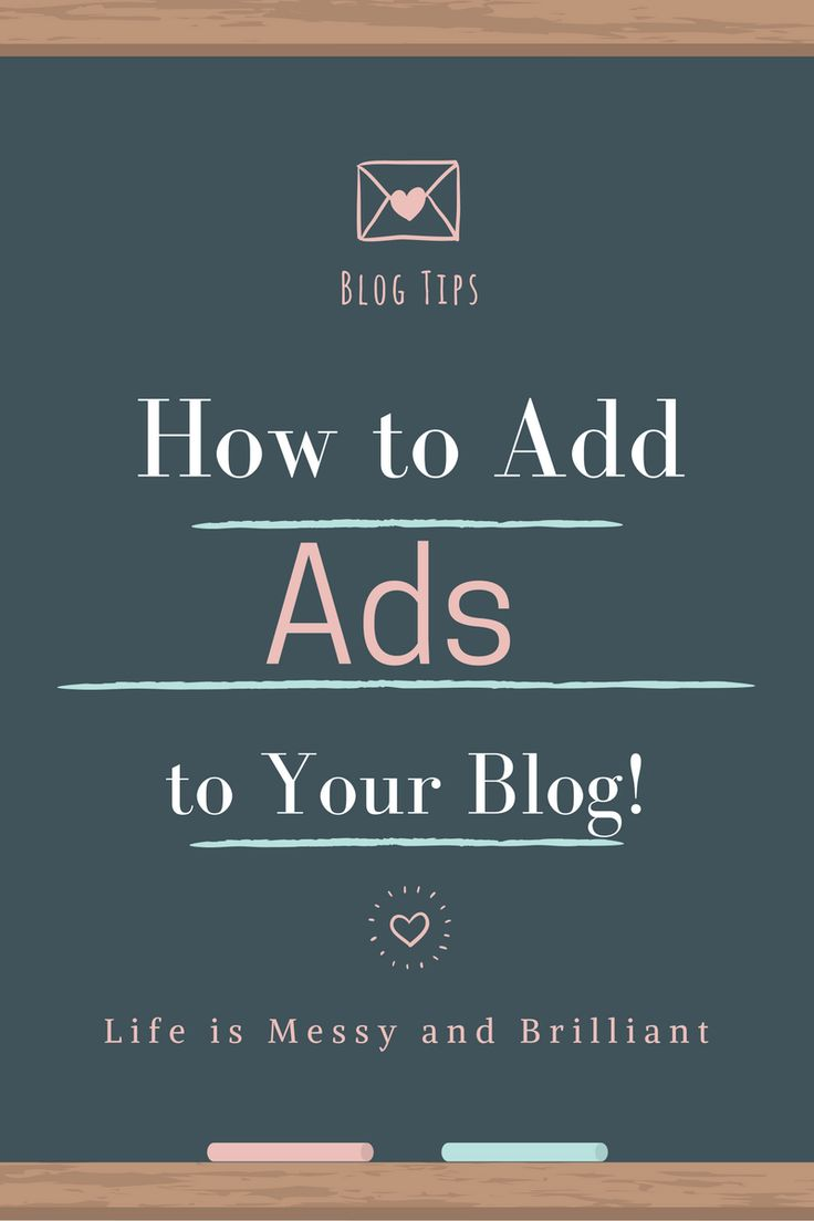 how to add ads to a blog