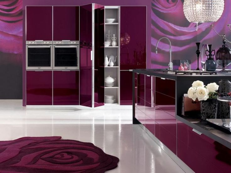 10 Best Purple Kitchens Images On Pinterest Contemporary Unit