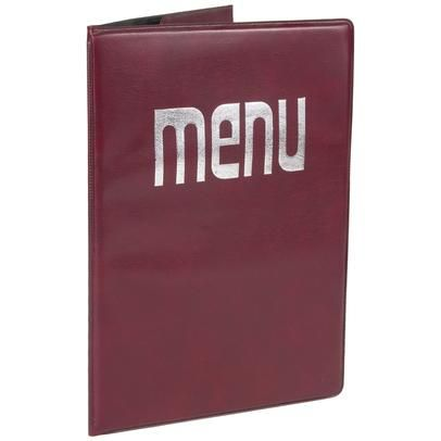 Enclose your paper menu in a moisture-proof cover to protect against spills.