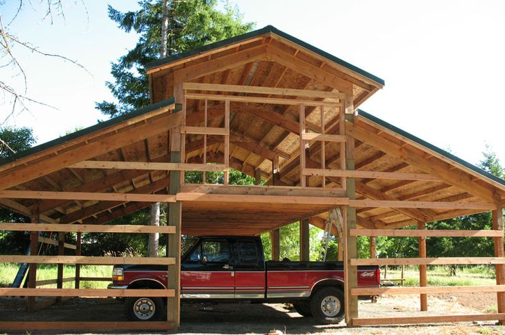 Pole barn framing google search oh the possibilities for Barn home design ideas