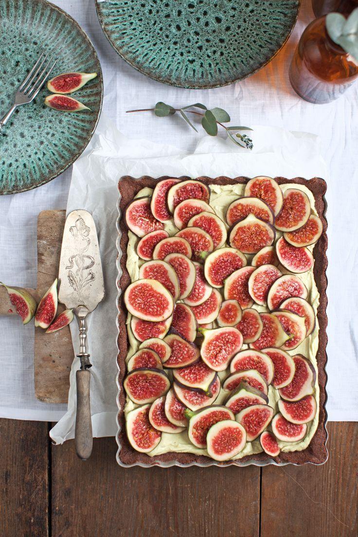 Schokotarte mit Pistaziencreme und Feigen | Törtchenzeit – Kuchen & Torten Rezepte