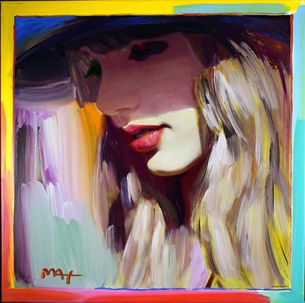 Peter Max painting of Taylors album cover Red // hoping they sell these in her online store.