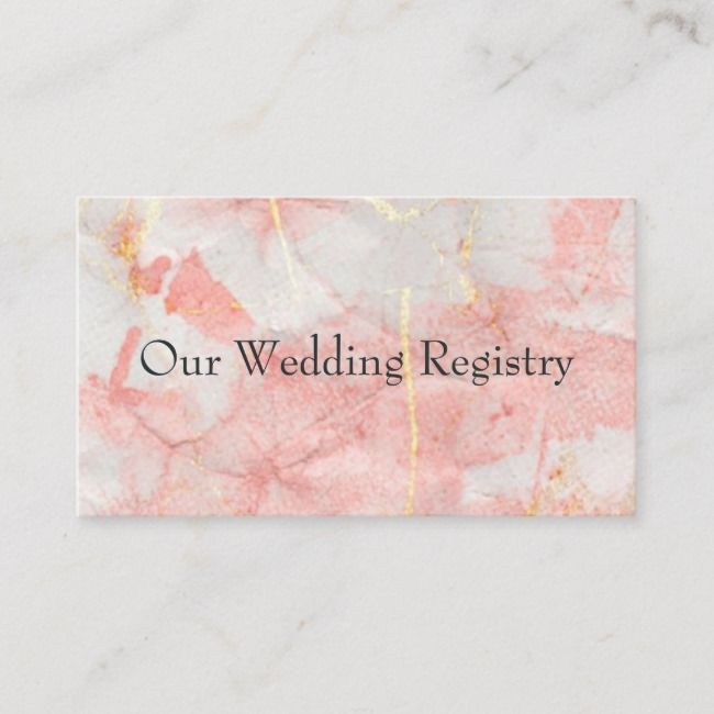 Rose Gold Marble Textures Wedding Registry Business Card Wedding Textures Business Registry Rose Rose Gold Marble Wedding Registry Gold Marble