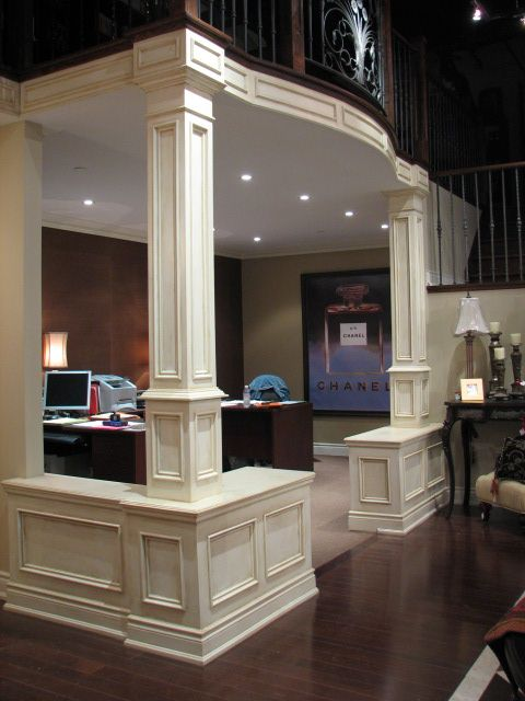 82 Best Columns Interior Decorating Half Wall Bookshelf Images On Pinterest Home Half